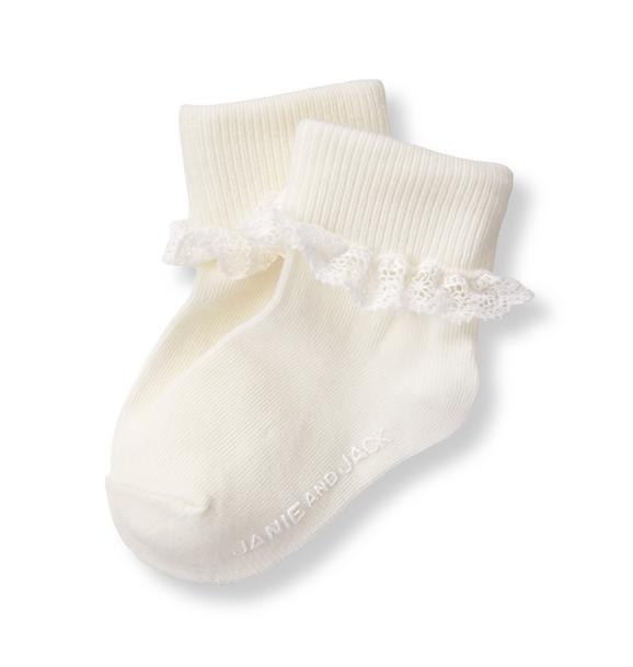 Lace Ruffle Sock