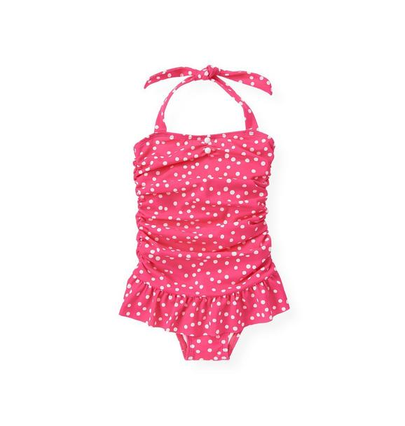 Ruched Dot Swimsuit