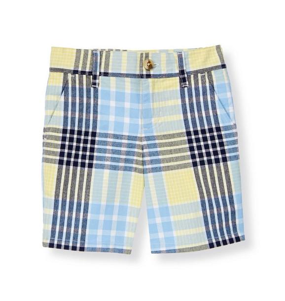 Plaid Canvas Short