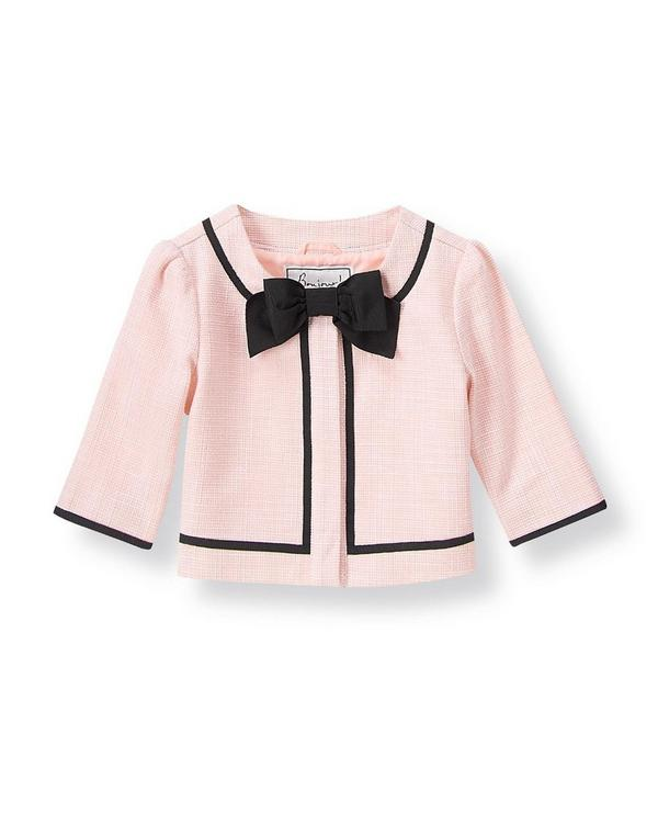 Parisian Pink Bow Boucle Jacket by Janie and Jack