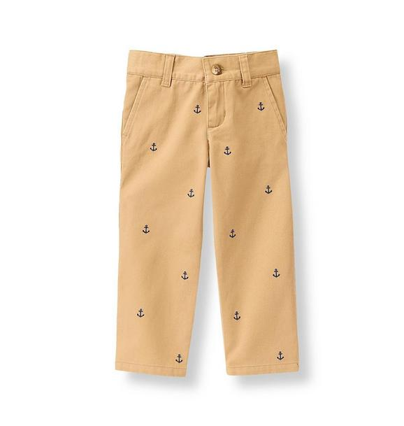 Anchor Embroidered Pant