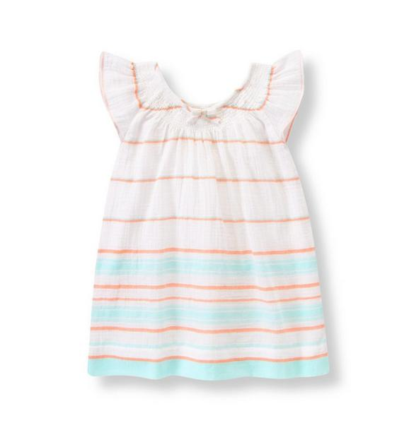 Striped Gauze Dress