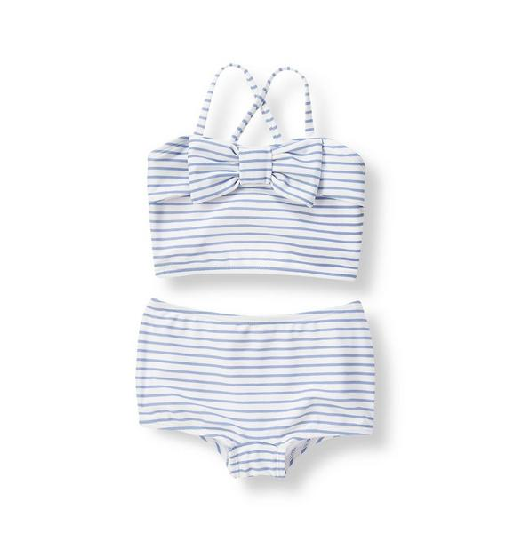 Bow Striped Bikini