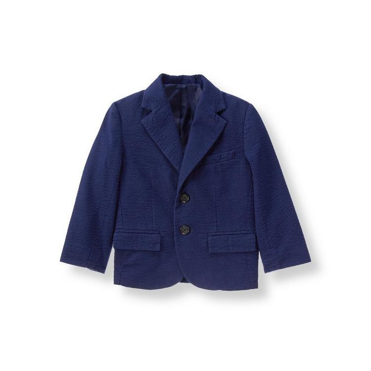bdf45aaf313d Boy Navy Seersucker Suit Blazer by Janie and Jack