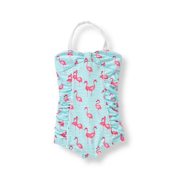 Flamingo Print Swimsuit