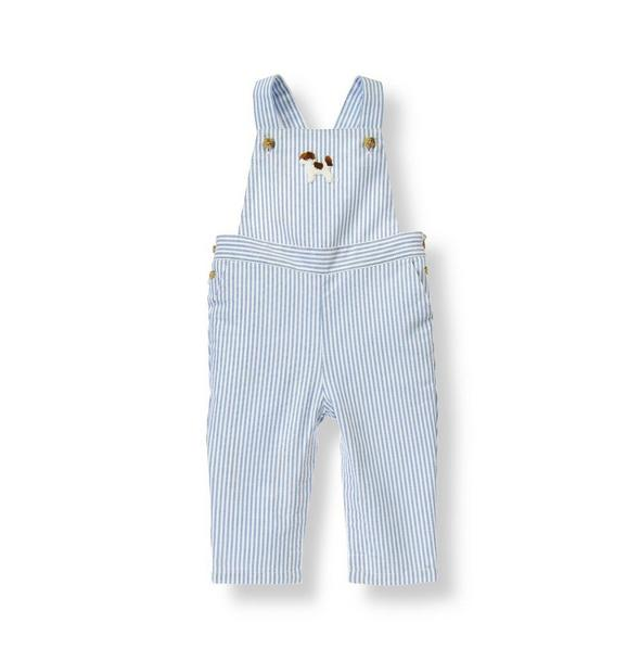 Puppy Striped Overall