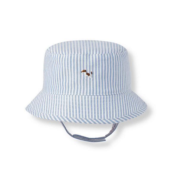 Puppy Striped Bucket Hat