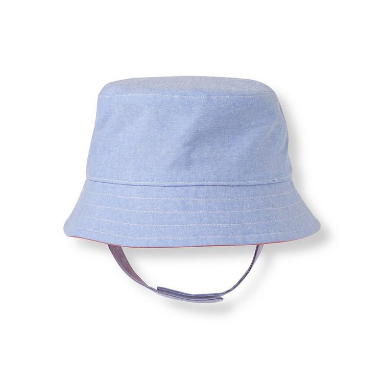 cab85b57913 Accessories Chambray Blue Reversible Bucket Hat by Janie and Jack