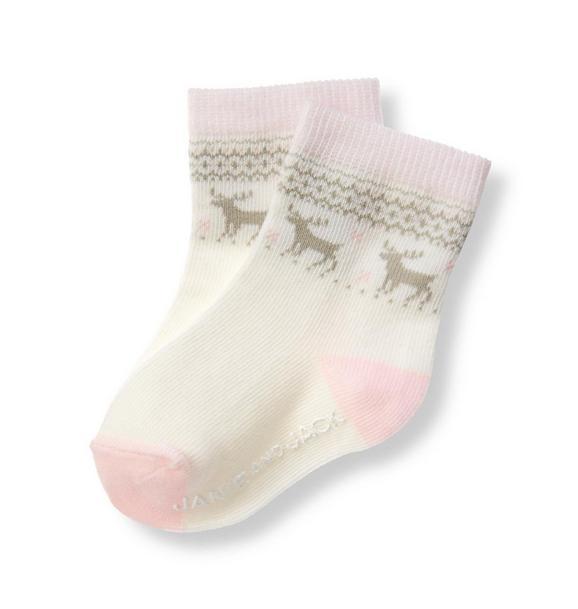 Reindeer Fair Isle Sock