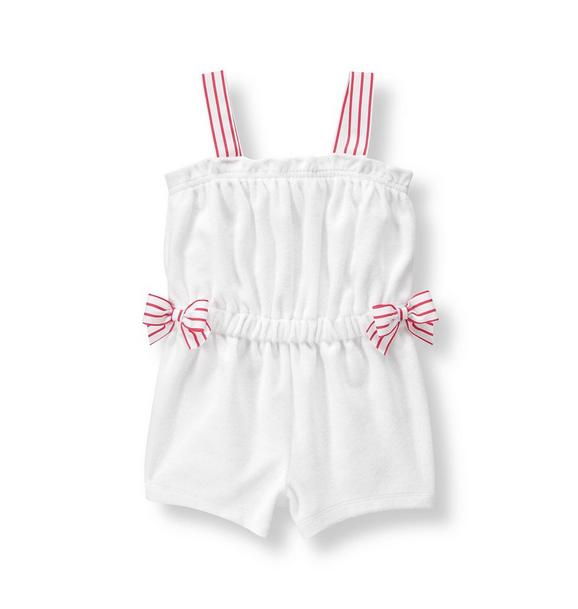 Bow Terry Romper