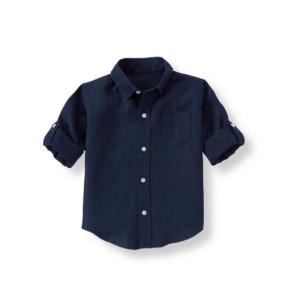 Roll-Cuff Linen Shirt
