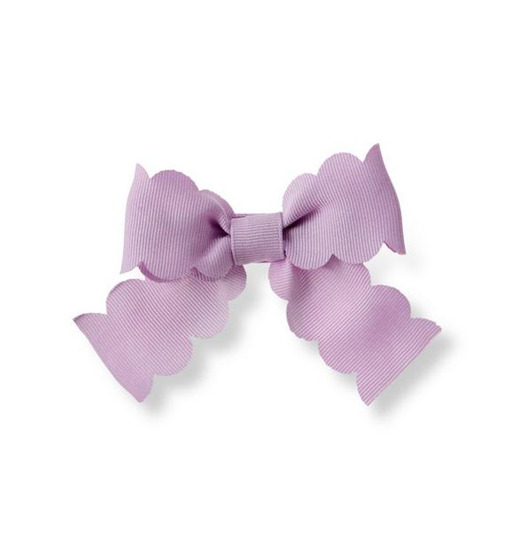 Scalloped Bow Clip