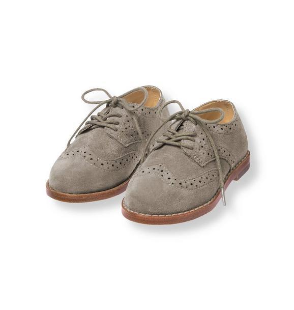 Suede Wingtip Shoe