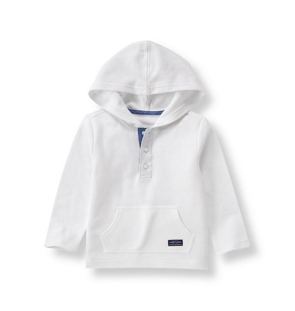 Hooded Pique Polo