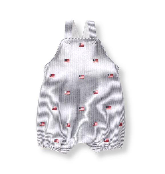 Embroidered Flag Shortall