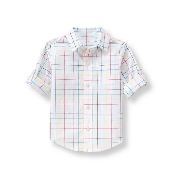 Roll-Cuff Checked Shirt