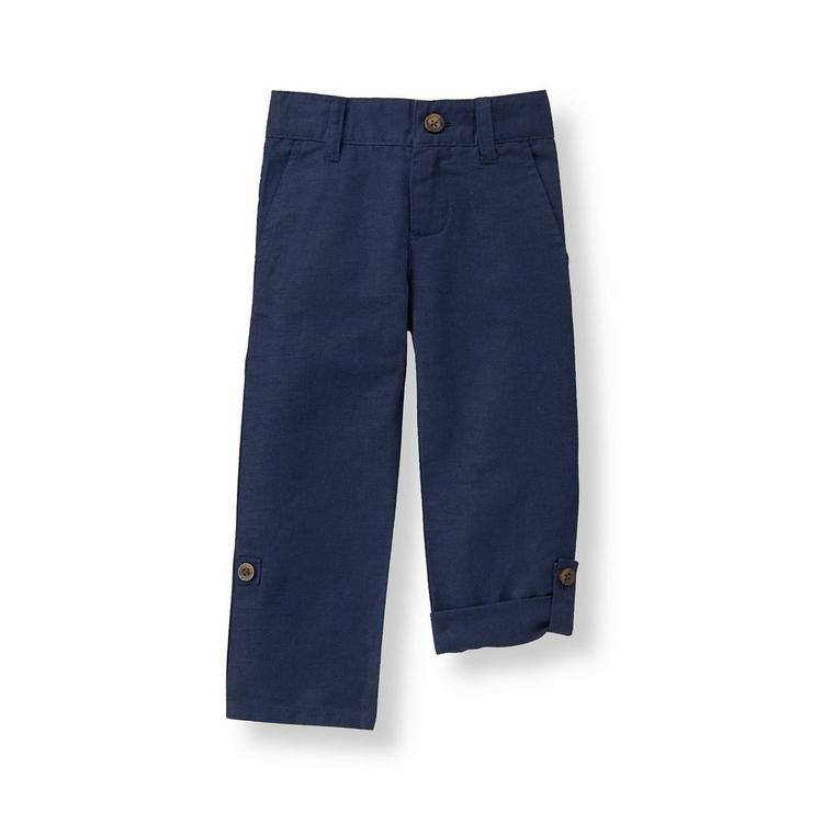 60116cb8d62 Boy Navy Linen Blend Pant by Janie and Jack