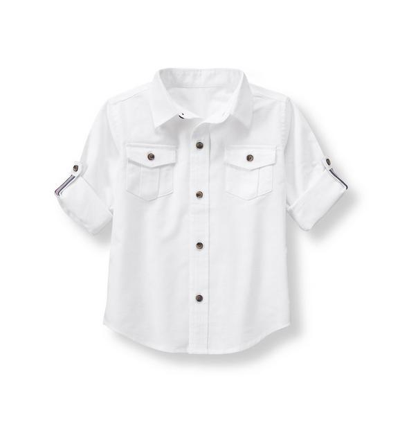 Roll-Cuff Oxford Shirt
