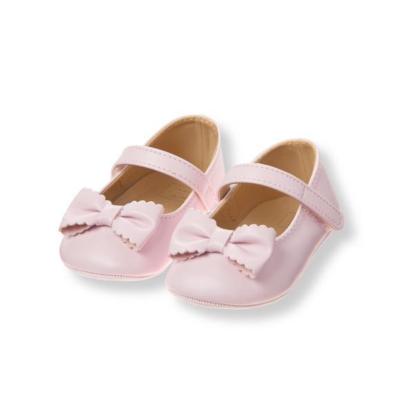 Scalloped Bow Crib Shoe
