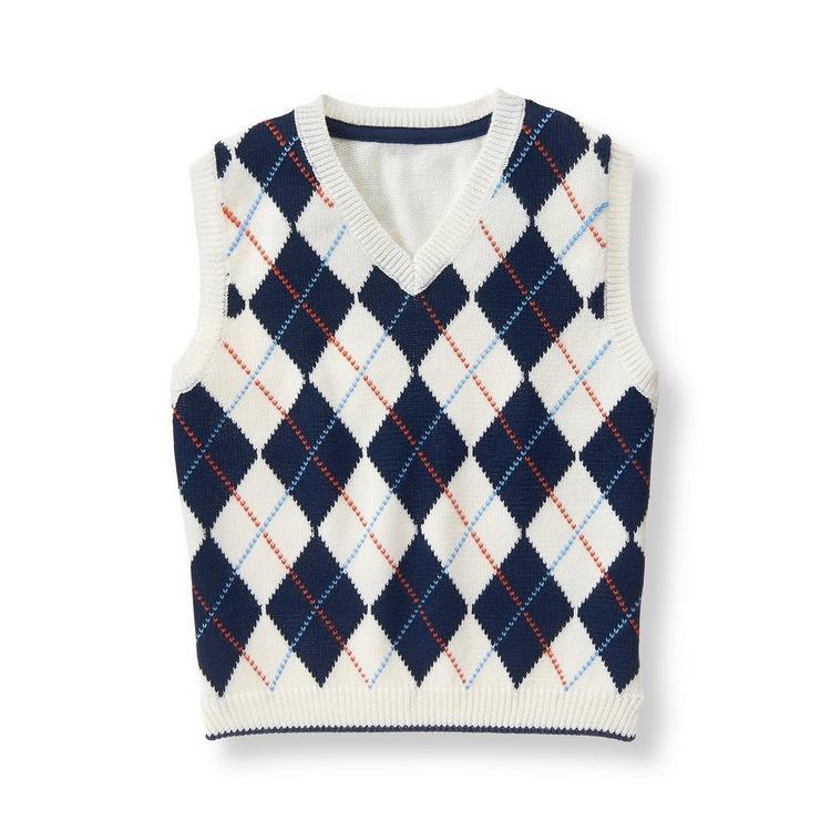 034130c47 Boy Ivory Argyle Argyle Sweater Vest by Janie and Jack