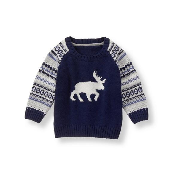 Fair Isle Moose Sweater
