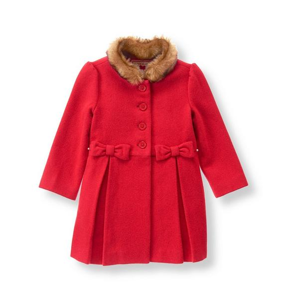 Bow Wool Blend Coat