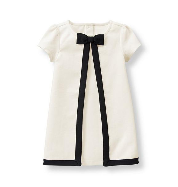 Tipped Ponte Dress