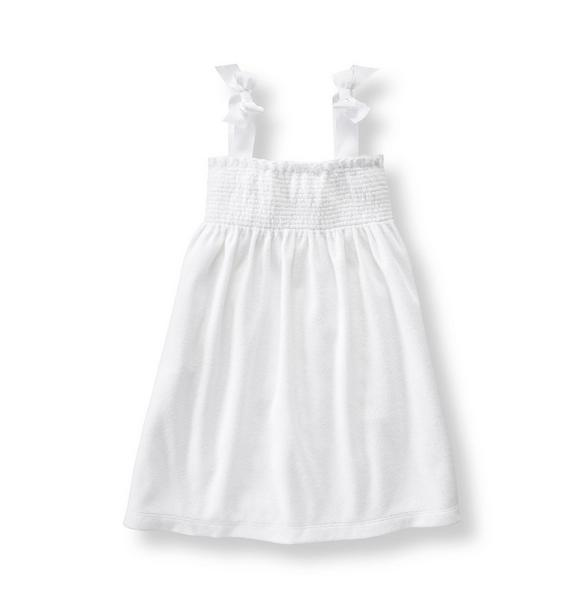 Smocked Terry Cover-Up