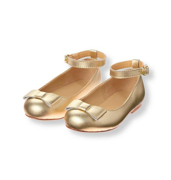 Metallic Bow Flat