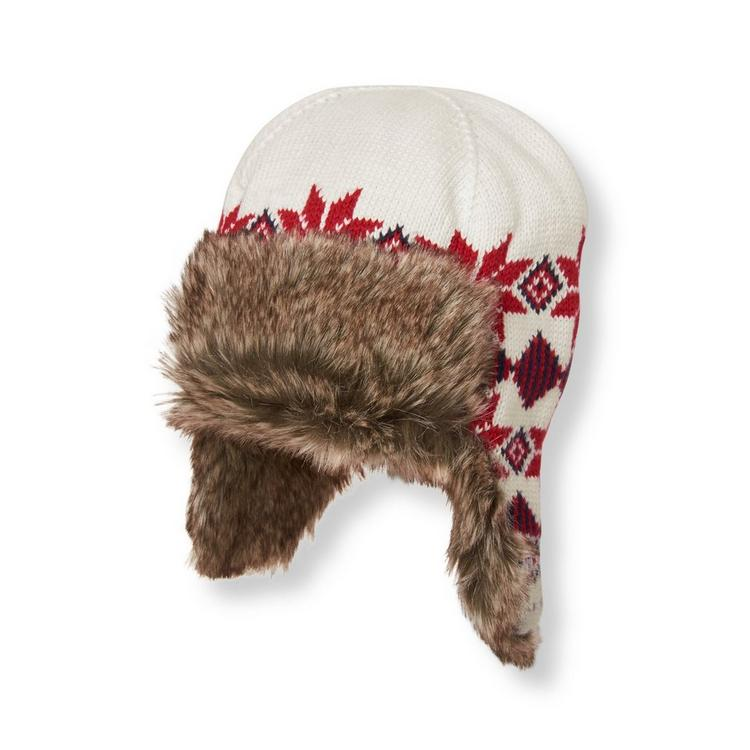 cfac719371 Accessories Ivory Fair Isle Trapper Hat by Janie and Jack