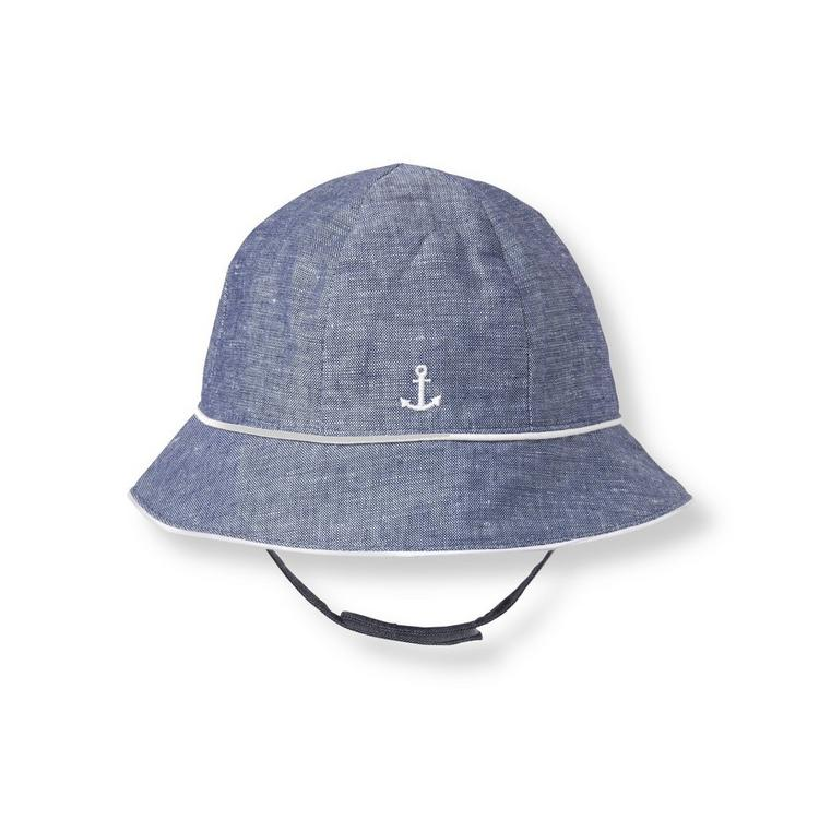 5047a951672 Accessories Chambray Blue Anchor Bucket Hat by Janie and Jack