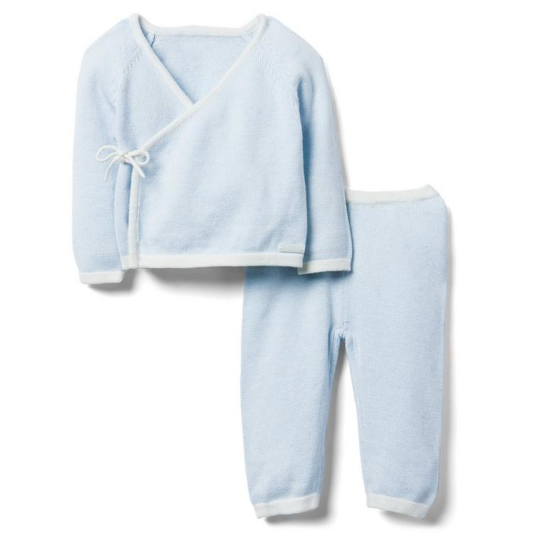 f1f6add98 Newborn Sky Blue Newborn Sweater Gift Set by Janie and Jack