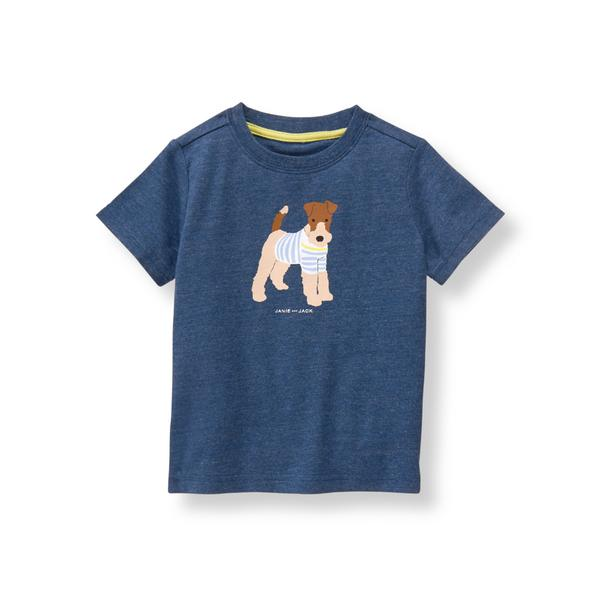 Boy Heather Navy Scottie Tee by Janie and Jack