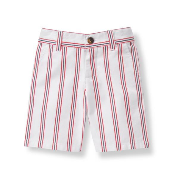 Striped Twill Short