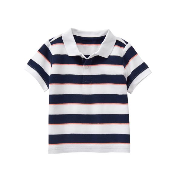 Striped Pique Polo Shirt