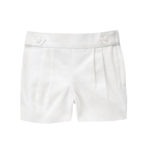 Pleated Canvas Short