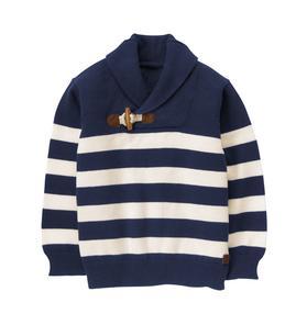 Striped Shawl Sweater