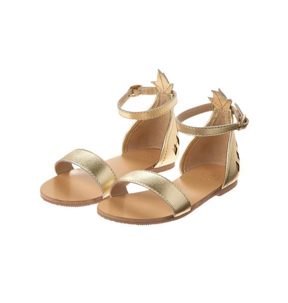 Metallic Pineapple Sandal