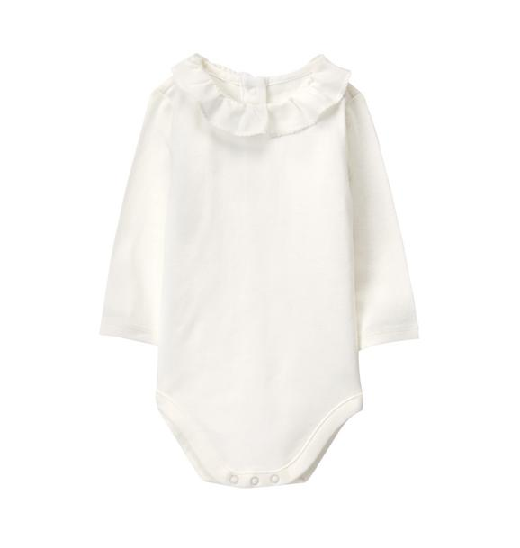 693ecf8f3 Newborn Ivory Ruffle Collar Bodysuit by Janie and Jack