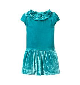 Dropwaist Velvet Dress
