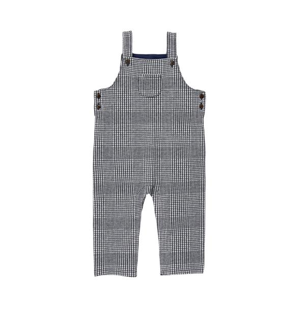 Knit Plaid Overall