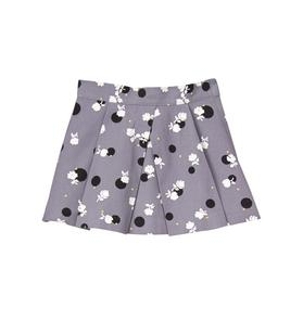 Pleated Floral Dot Skirt
