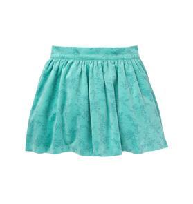 Floral Velveteen Skirt