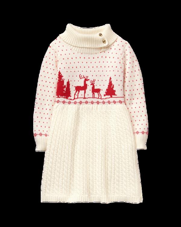 Girl Ivory Fair Isle Sweater Dress by Janie and Jack