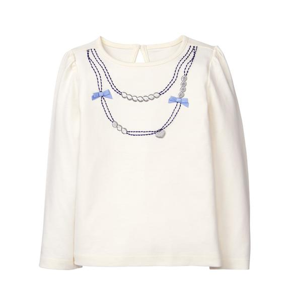 Embroidered Necklace Tee