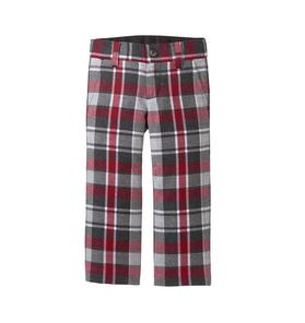 Plaid Wool Trouser