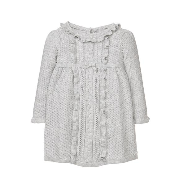 Ruffle Sweater Dress