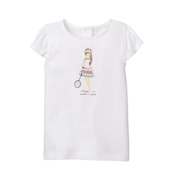 Badminton Girl Tee