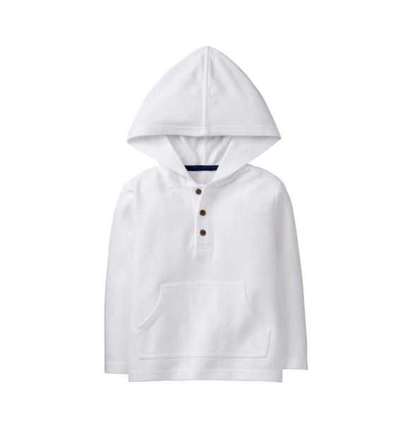Pique Hooded Pullover