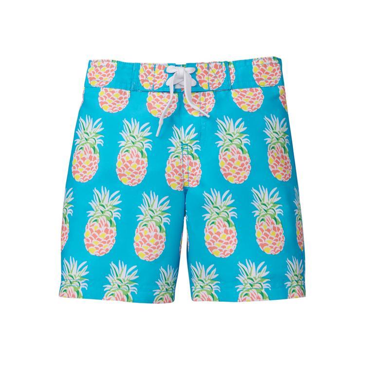 68005191ae Boy Cerulean Glow Pineapple Swim Trunk by Janie and Jack